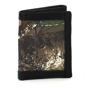 REALTREE RFID TRI-FOLD LEATHER WALLET BROWN